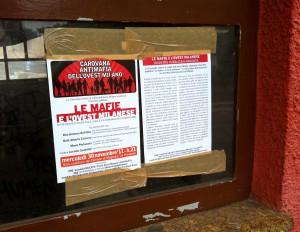 Comunicato stampa: minacce mafiose ad attivista della Carovana Antimafia dell'Ovest Milano.