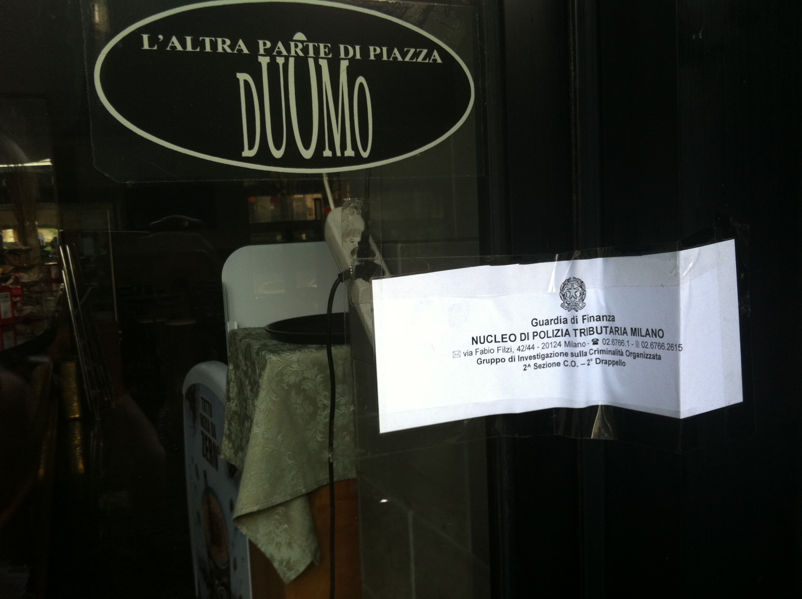 Mafia in piazza Diaz: riapre il Samarani