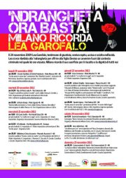 'Ndrangheta ora basta! Milano ricorda Lea Garofalo.