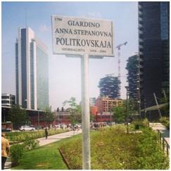 Milano, un giardino per Anna Politkovskaja.