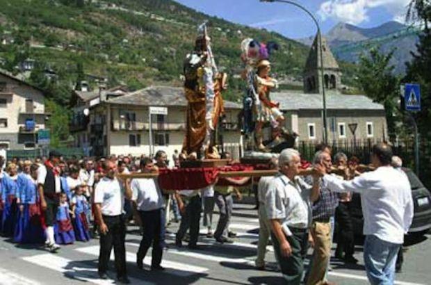 valle d'aosta - Festa di San Giorgio e San Giacomo.