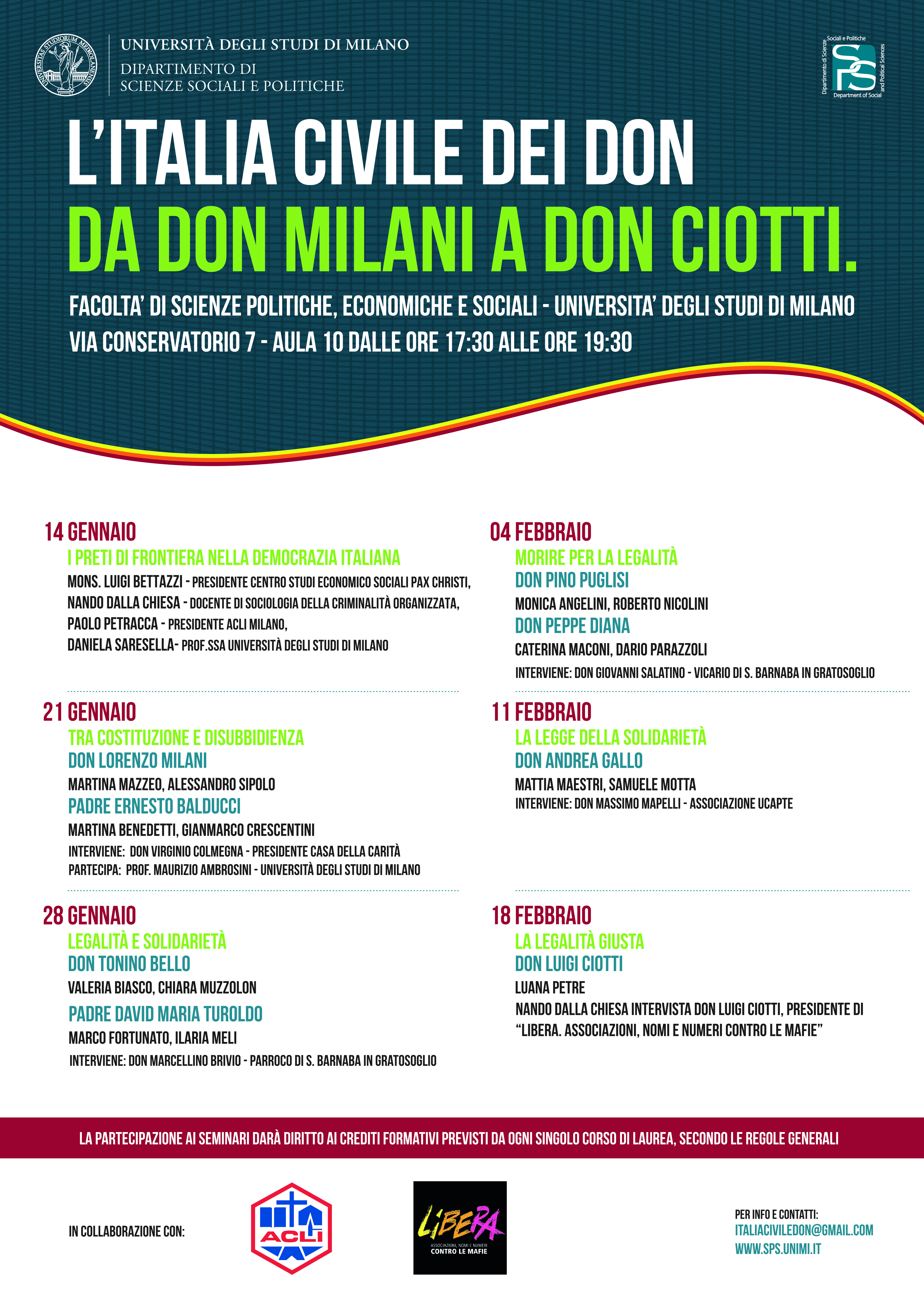 L'Italia civile dei don, da don Milani a don Ciotti