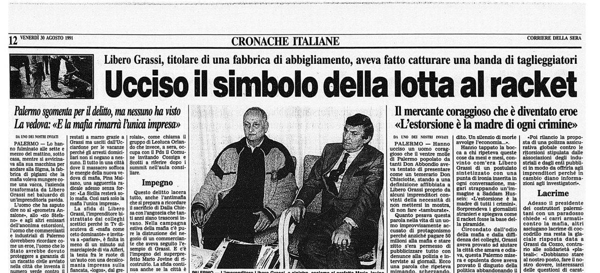 1990-1991: assestamento, transizione e mattanza mafiosa