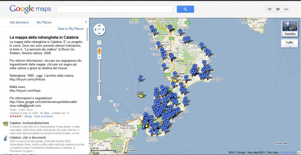 La mappa della 'ndrangheta in Calabria