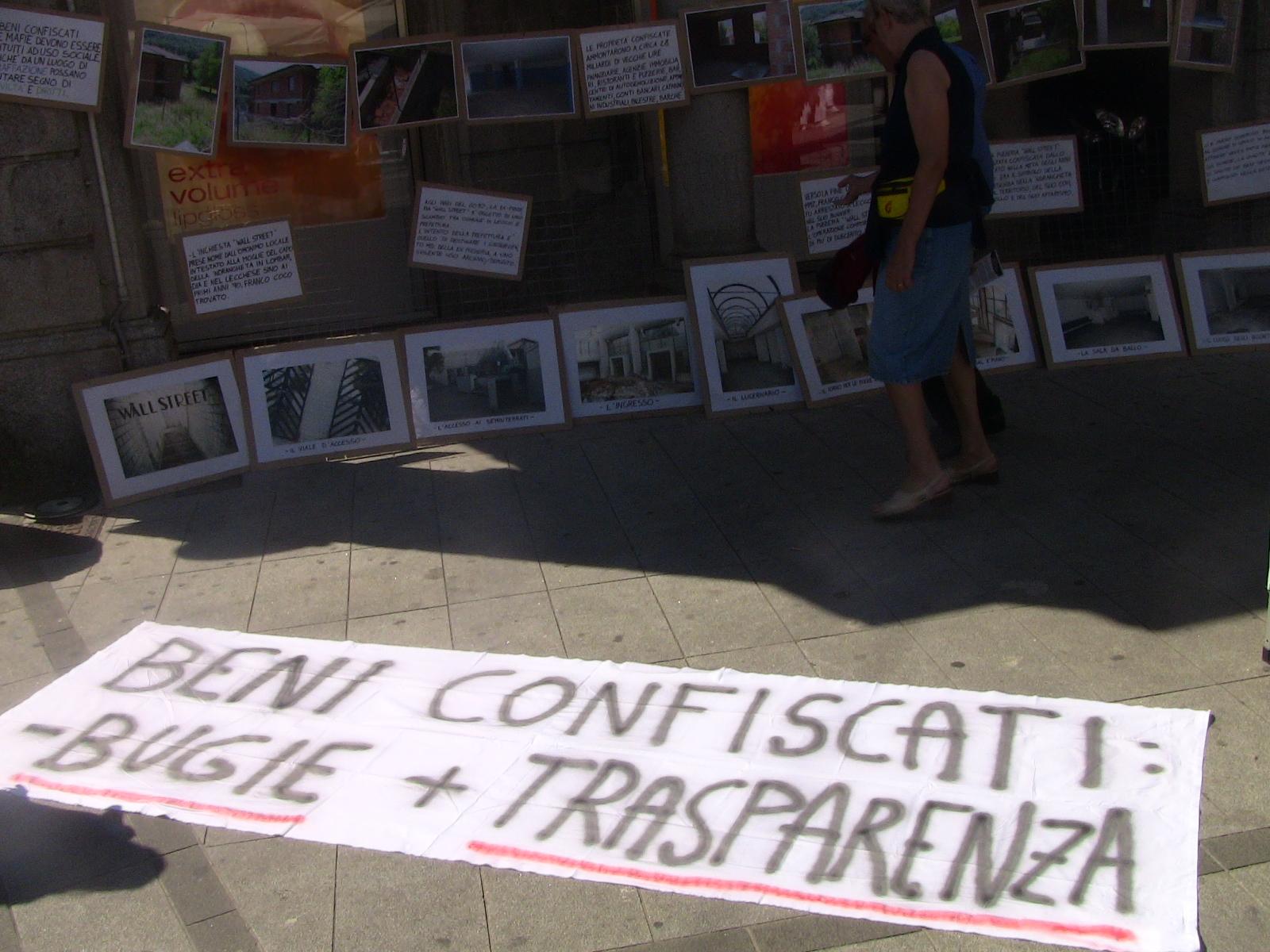 Beni confiscati a Lecco: i cittadini chiedono trasparenza