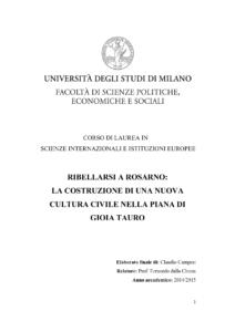 tesi Claudio Campesi
