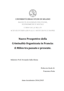 criminalità organizzata in Francia