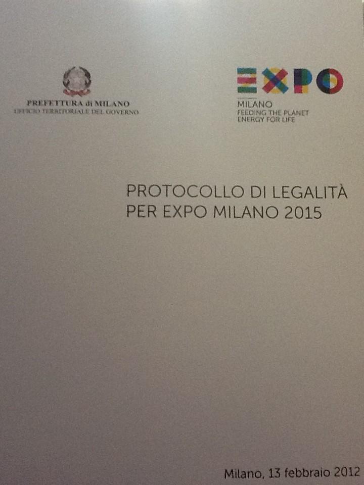 Protocollo di legalità per Expo Milano 2015