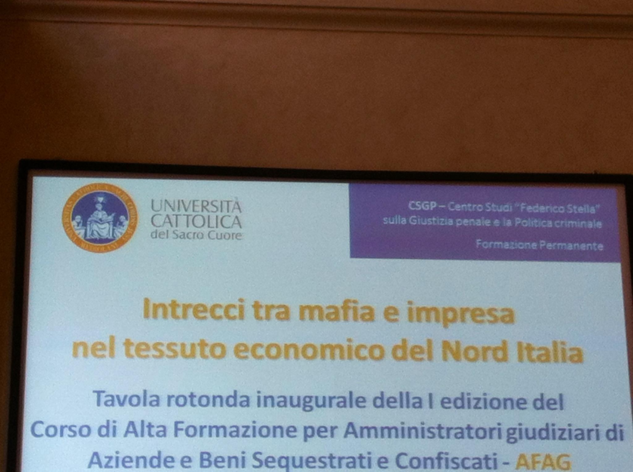 Intrecci tra mafia e impresa nel Nord Italia.