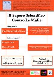 Il sapere scientifico contro le mafie