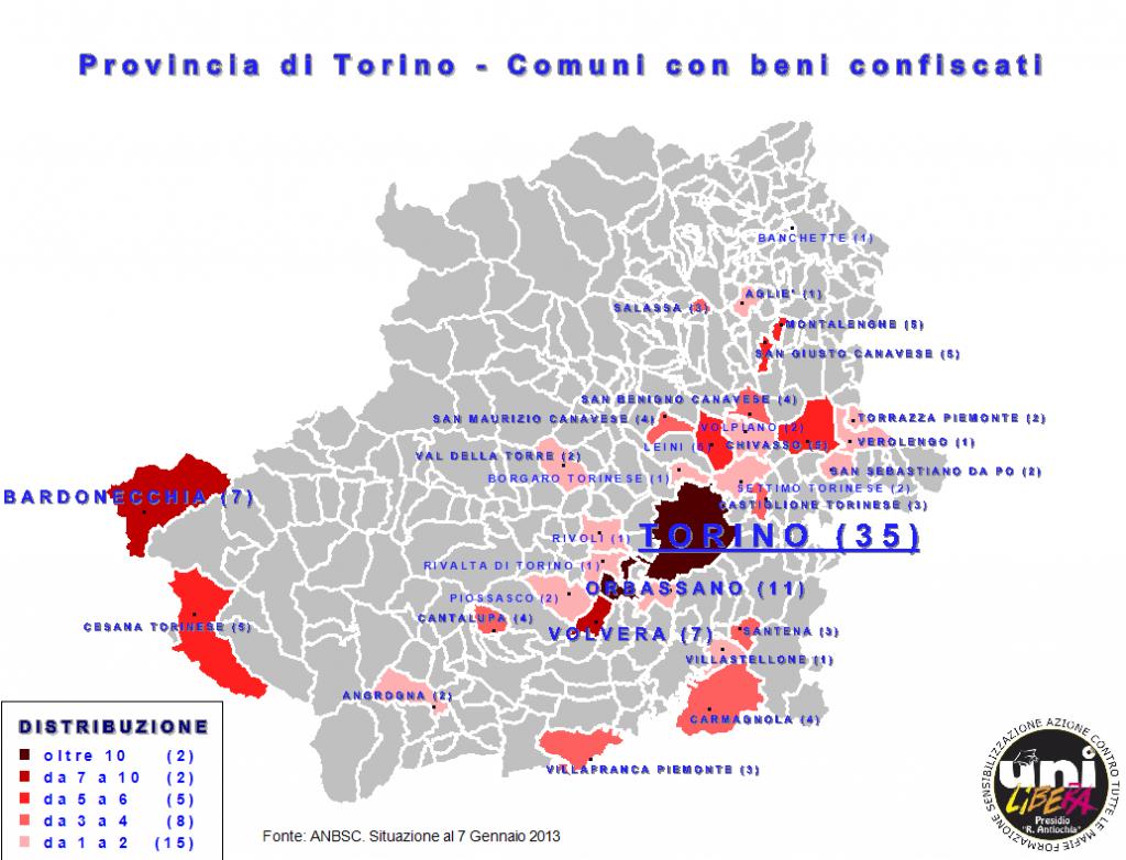 beni confiscati in provincia di Torino