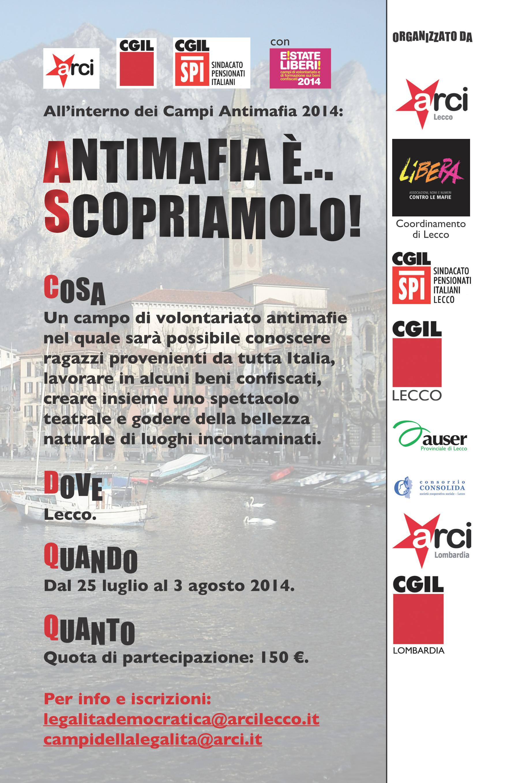 """""""Antimafia è…Scopriamolo"""" a Lecco"""