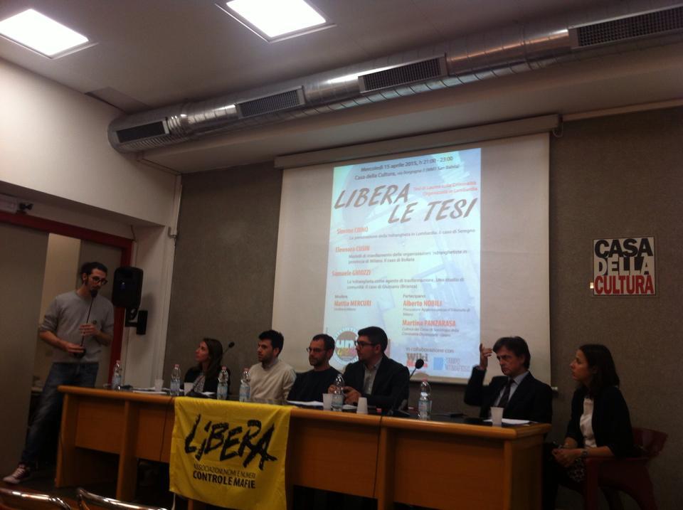 Libera le Tesi, #1: la 'ndrangheta in Lombardia