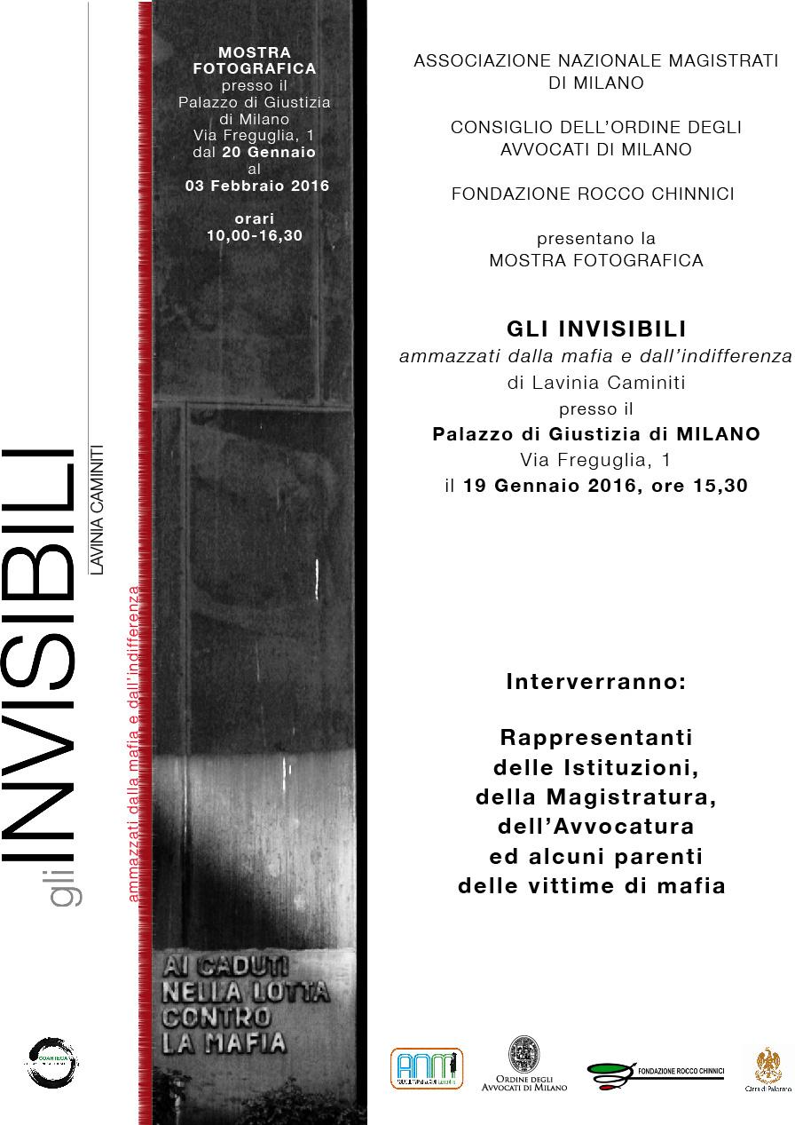 Da Palermo a Milano, la mostra antimafia promossa dai magistrati e dagli avvocati milanesi