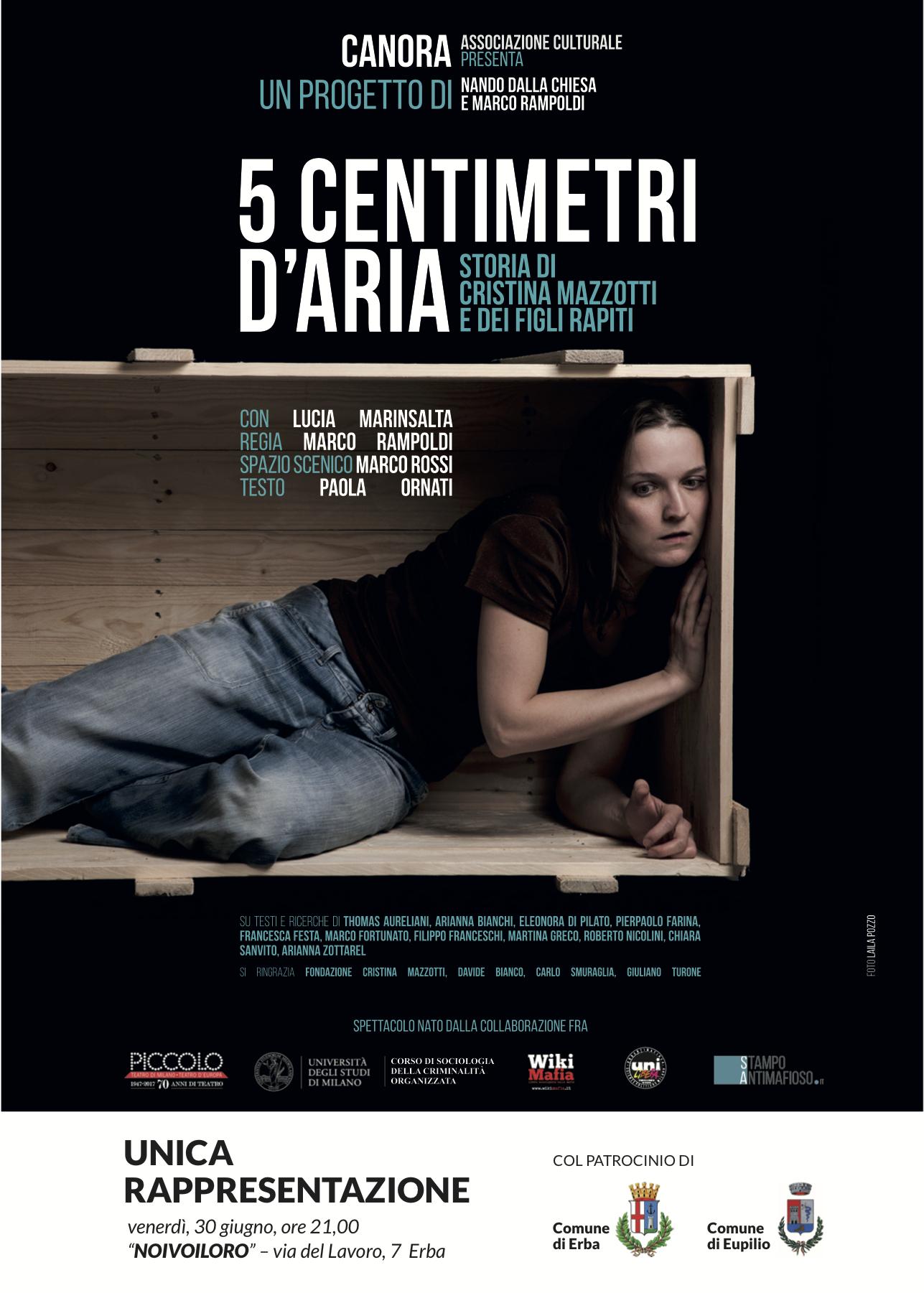 La 'ndrangheta e i sequestri di persona. La storia di Cristina Mazzotti in scena ad Erba