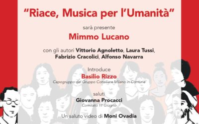 Riace. Mimmo Lucano a Milano per 'Musica per l'umanità'