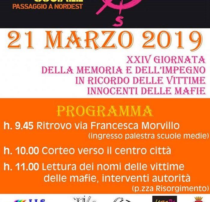 21 marzo, a Melegnano studenti in piazza per la memoria
