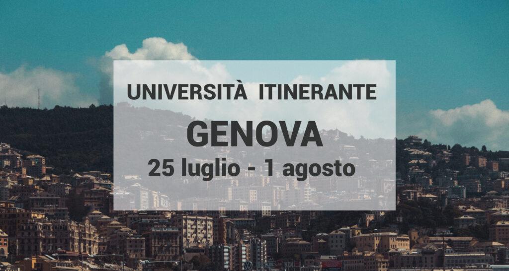 Al via dal 25 luglio l'Università itinerante: la decima edizione sarà a Genova