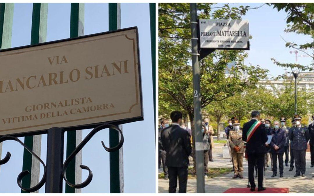 Da via Giancarlo Siani a piazza Piersanti Mattarella: i recenti luoghi dell'antimafia